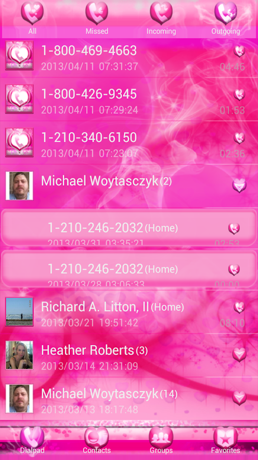 Smokin HOT PINK GO Contacts EX - screenshot