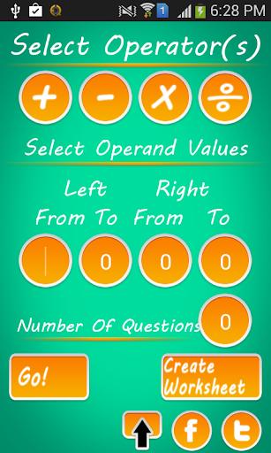 Math Quiz Generator: Add Minus