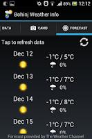 Screenshot of Bohinj Weather Info