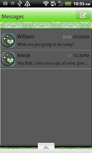GO SMS THEME KeyLimeZebra4U