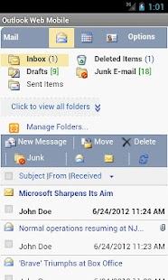 Outlook Web Mobile (OWA EMail) - screenshot thumbnail