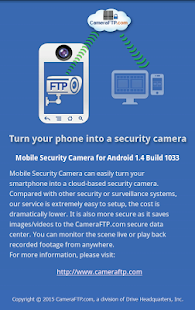Mobile Security Camera (FTP)- screenshot thumbnail