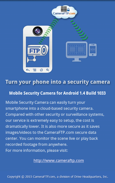 Mobile Security Camera (FTP)- screenshot