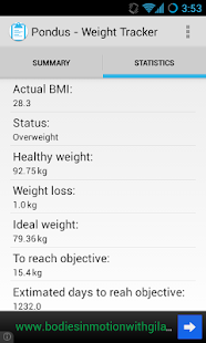 Pondus - Weight Tracker- screenshot thumbnail