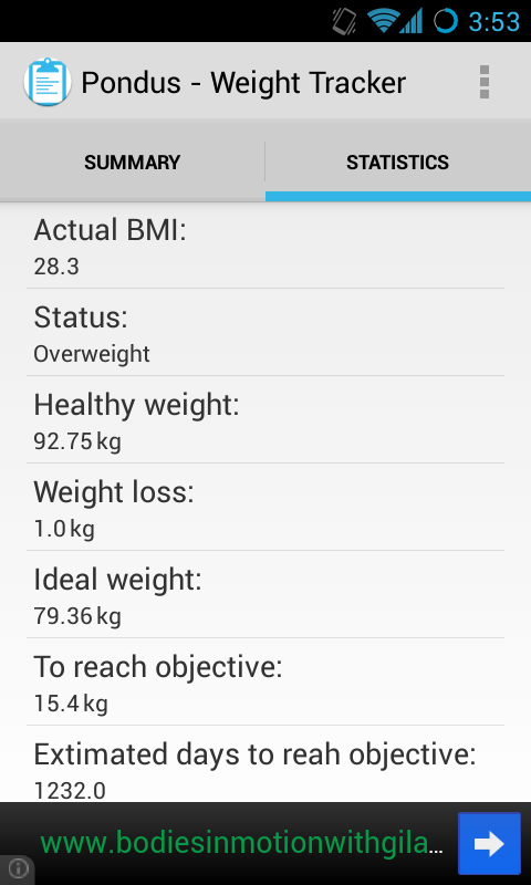 Pondus - Weight Tracker - screenshot