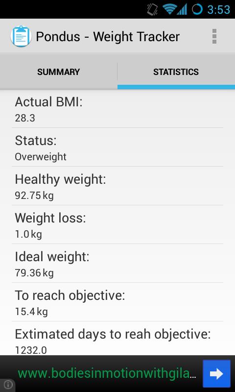 Pondus - Weight Tracker - screenshot