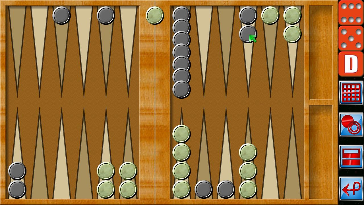 Backgammon V+- screenshot