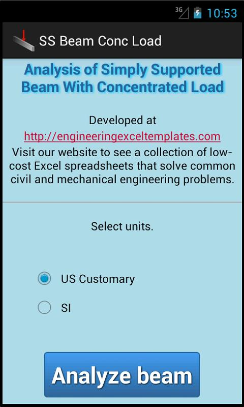 SS Beam Conc Load - screenshot