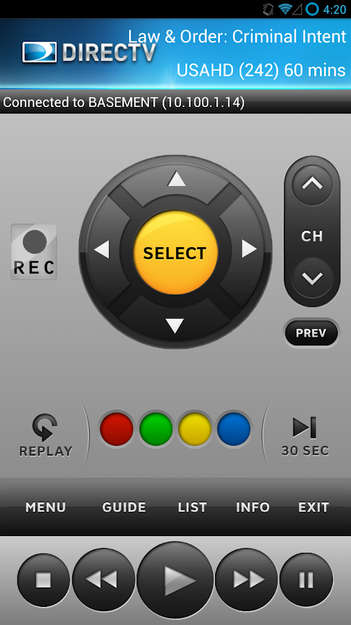 DIRECTV Remote- screenshot