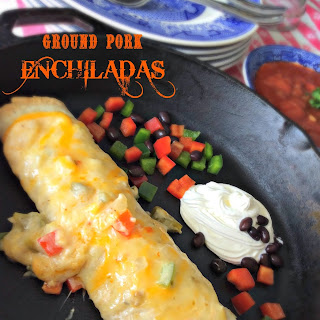 Ground Pork Enchiladas.