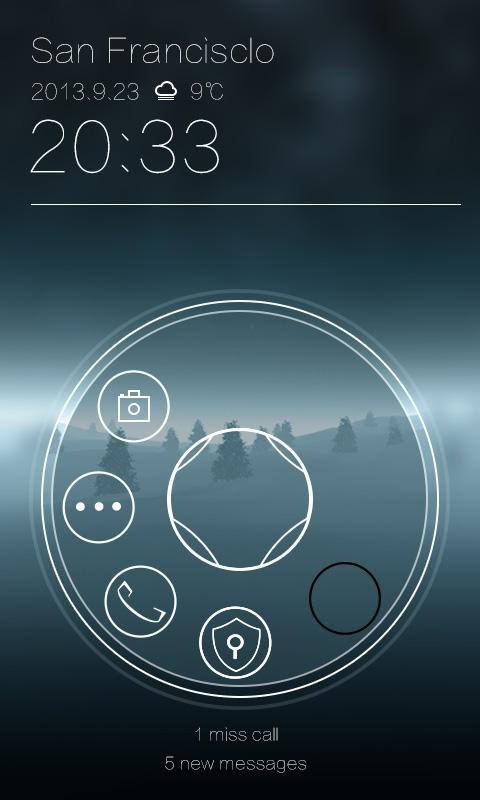 Dialing GO Locker Theme - screenshot