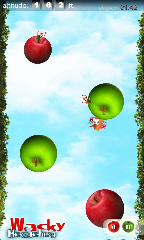 Wacky Hedgehog jump - screenshot