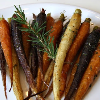 Roasted Whole Carrots with Rosemary and Honey.
