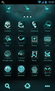 His head GO Launcher Theme - screenshot thumbnail