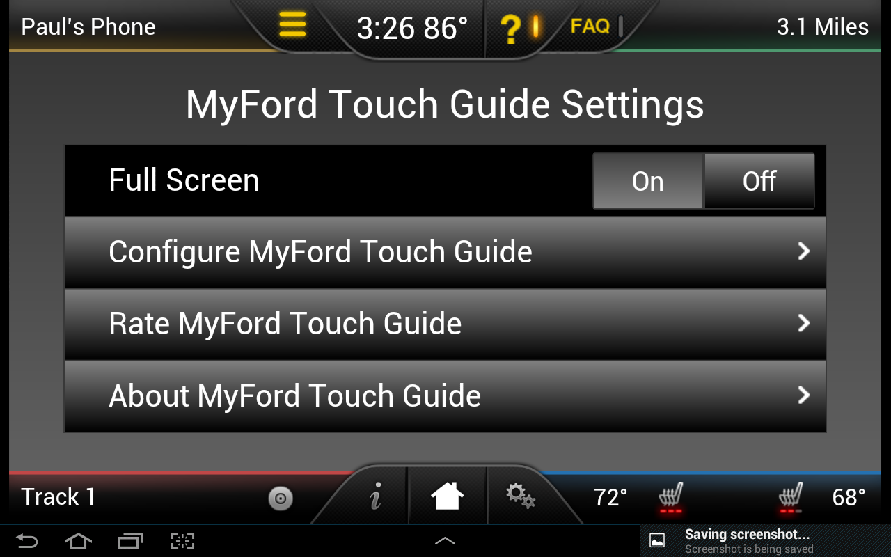 MyFord Touch Guide- screenshot