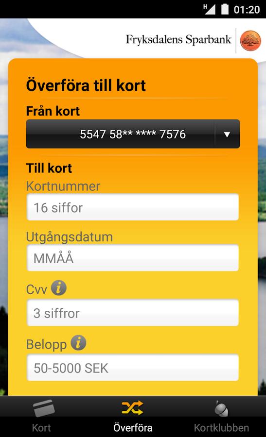 Fryksdalens Sparbank - screenshot