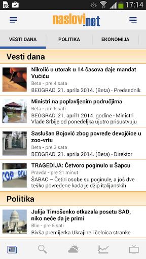 Naslovi - Vesti Srbija
