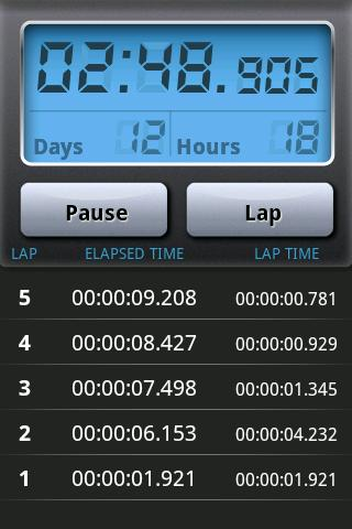 Stopwatch Pro - screenshot