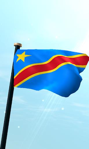 コンゴ民主共和国フラグ3D無料ライブ壁紙
