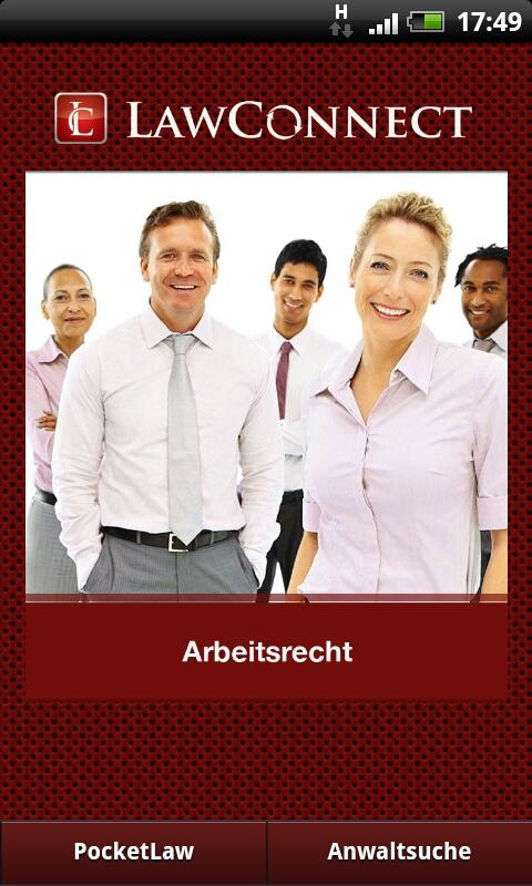 Arbeitsrecht- screenshot