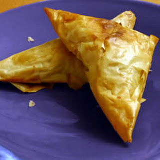 Brie and Mushroom Phyllo Puffs.