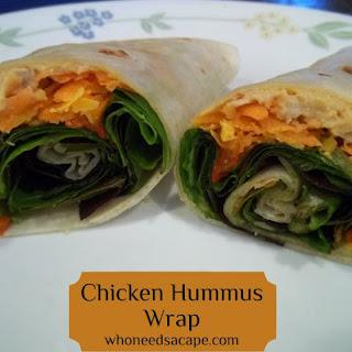Chicken Hummus Wrap