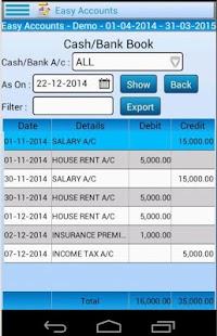 Easy Accounting Lite screenshot