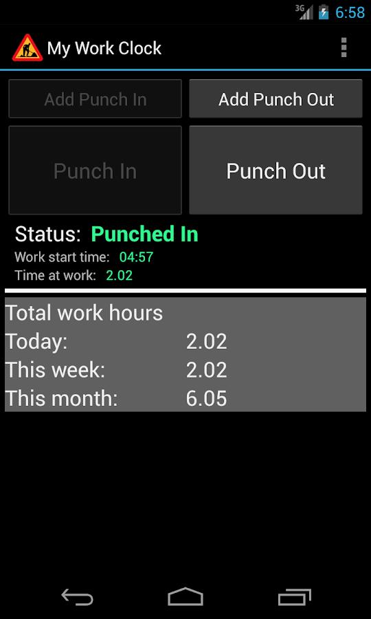 My Work Clock - screenshot