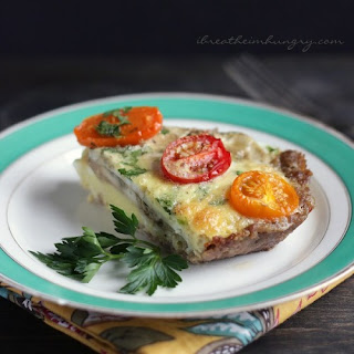 Sausage Crusted Quiche – Low Carb and Gluten Free