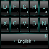 Keyboard Theme Frame Aqua