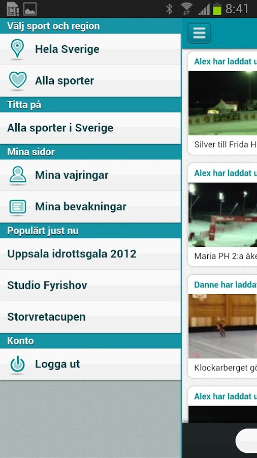 Sportwire- screenshot