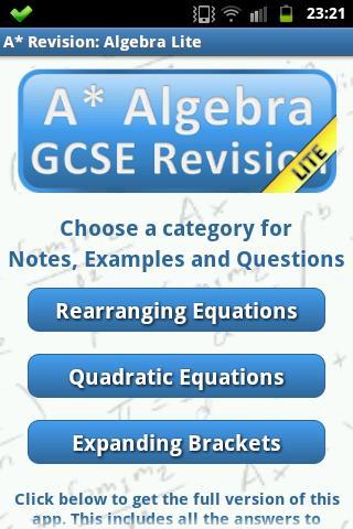 A* Revision: Algebra Lite