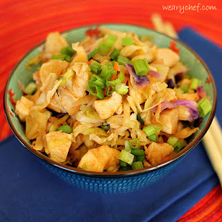 Chinese Chicken Coleslaw Stir Fry