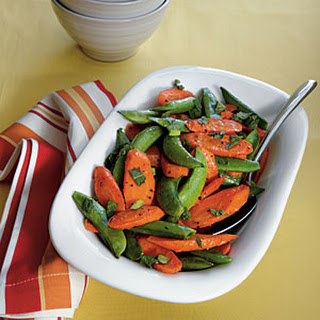 Roasted Carrots and Snap Peas.