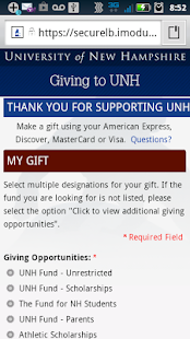 UNH Mobile - screenshot thumbnail