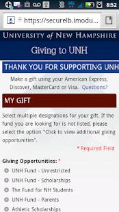 UNH Mobile - screenshot thumbnail