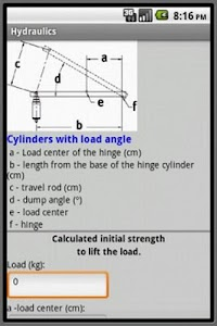 Hydraulic calculations screenshot 2