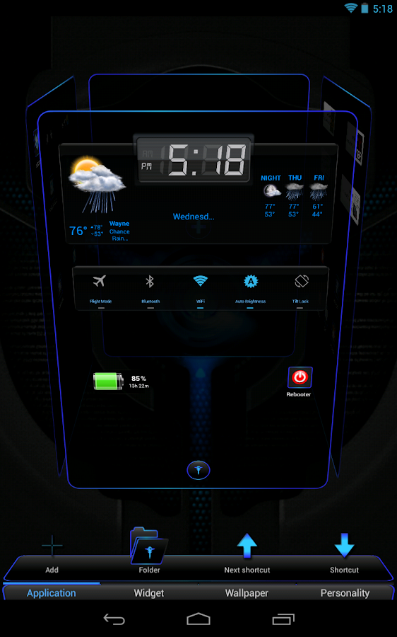 Next Launcher 3D Black n Black - screenshot