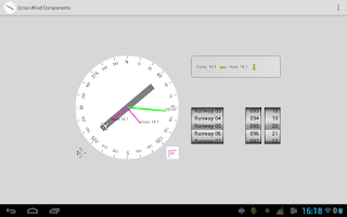 Screenshot of Cross Wind Components