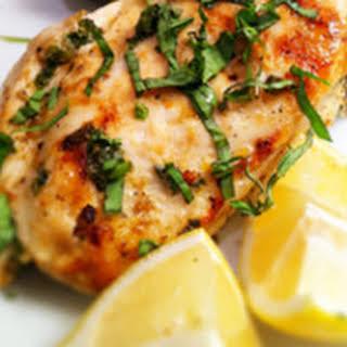 Lemon Garlic Basil Chicken.