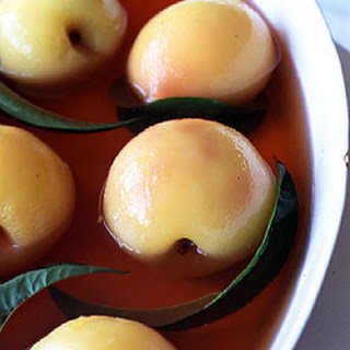 White Peaches Poached in Sauternes.