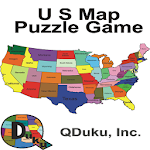 US States Map Puzzle Game