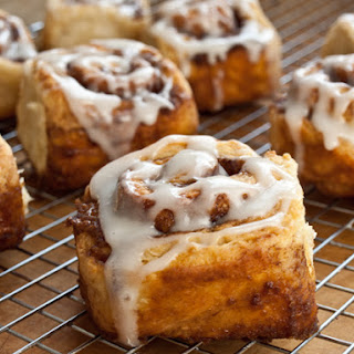 Quick Cinnamon Buns with Buttermilk Glaze.