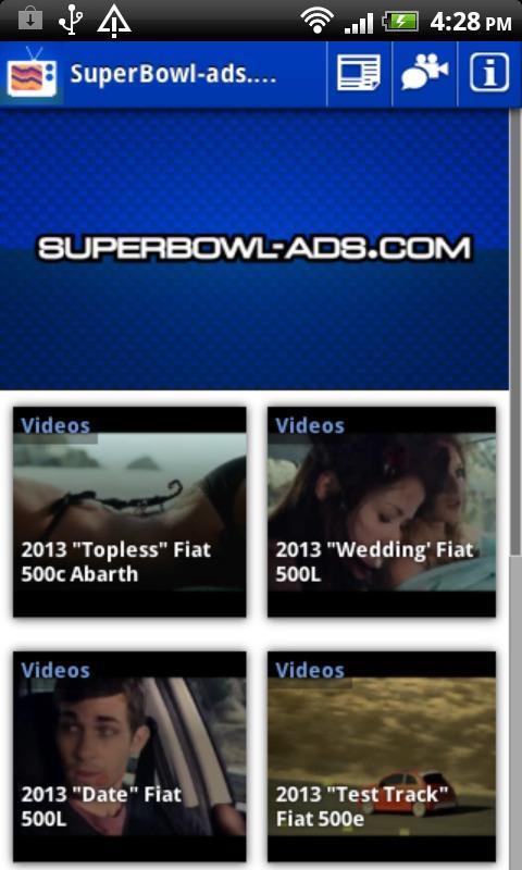 SuperBowl-Ads.com App - screenshot