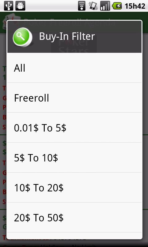 Poker Freeroll Agenda - screenshot
