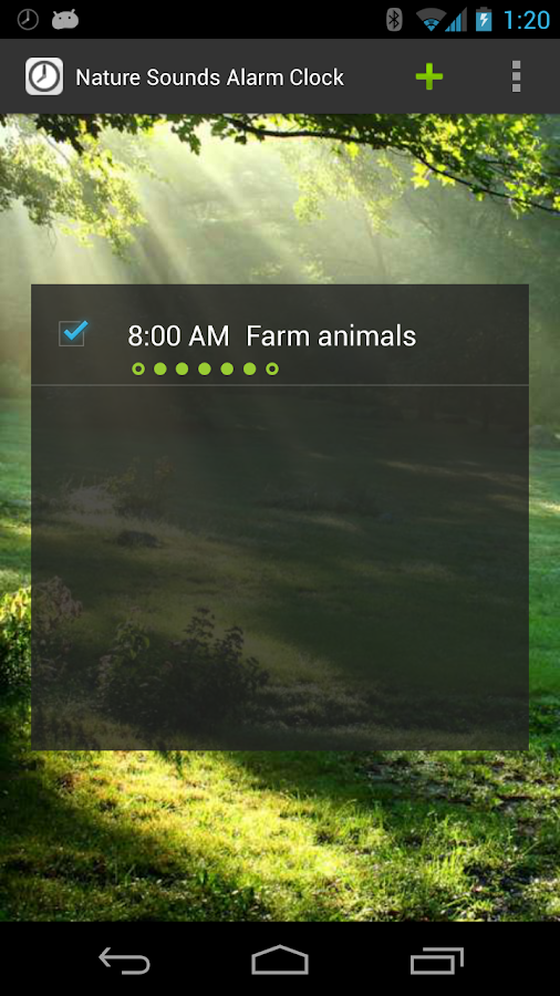 Nature Sounds Alarm Clock - screenshot