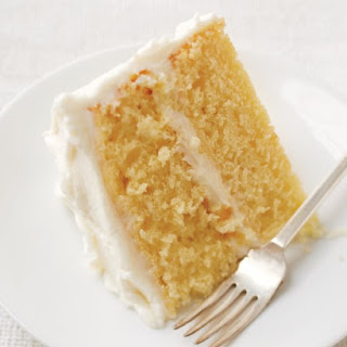Simple Layer Cake with Vanilla Frosting.