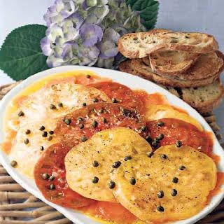 Tomato & Smoked Salmon Carpaccio.