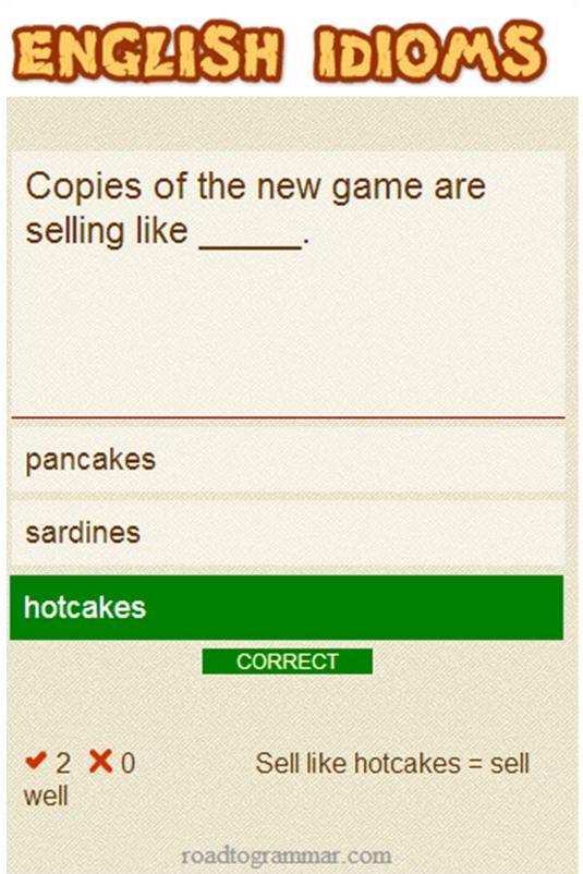 English Idioms Galore- screenshot