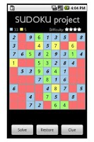 Screenshot of Sudoku project